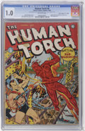 """Golden Age (1938-1955):Superhero, The Human Torch #8 Davis Crippen (""""D"""" Copy) pedigree (Timely, 1942) CGC FR 1.0 Off-white pages...."""
