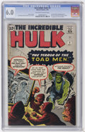 Silver Age (1956-1969):Superhero, The Incredible Hulk #2 (Marvel, 1962) CGC FN 6.0 Off-white to white pages....
