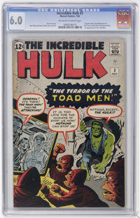 The Incredible Hulk #2 (Marvel, 1962) CGC FN 6.0 Off-white to white pages