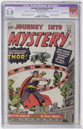 Silver Age (1956-1969):Superhero, Journey Into Mystery #83 (Marvel, 1962) CGC Apparent GD 2.0 Moderate (P) Off-white pages....