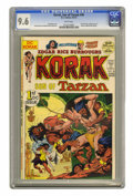 Bronze Age (1970-1979):Miscellaneous, Korak, Son of Tarzan #46 (DC, 1972) CGC NM+ 9.6 White pages. FirstDC issue. Origin of Carson of Venus. Joe Kubert cover. Fr...