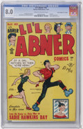 """Golden Age (1938-1955):Cartoon Character, Li'l Abner #61 Davis Crippen (""""D"""" Copy) pedigree (Harvey, 1947) CGCVF 8.0 Cream to off-white pages...."""