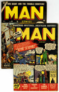 Golden Age (1938-1955):Non-Fiction, Man Comics #8 and 26 Group (Atlas, 1951-52).... (Total: 2)