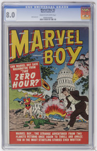 Marvel Boy #2 (Marvel, 1951) CGC VF 8.0 Cream to off-white pages