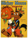 Platinum Age (1897-1937):Miscellaneous, Mickey Mouse Magazine V3#2 (K. K. Publications, Inc., 1937)Condition: FN. Big Bad Wolf Halloween cover. One piece of tape o...