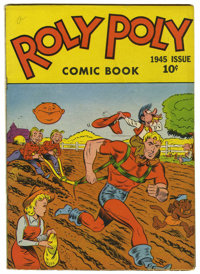 """Roly Poly Comic Book #1 Davis Crippen (""""D"""" Copy) pedigree (Green Publishing Co., 1945) Condition: FN"""