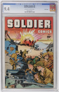 Golden Age (1938-1955):War, Soldier Comics #3 Crowley Copy pedigree (Fawcett, 1952) CGC NM 9.4Off-white to white pages....