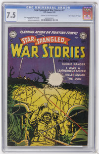 "Star Spangled War Stories #7 Davis Crippen (""D"" Copy) pedigree (DC, 1953) CGC VF- 7.5 Cream to off-white pages..."