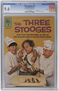 Three Stooges #8, 9 and 37 File Copies CGC Group (Dell, 1962-67) CGC Average NM+ 9.6.... (Total: 3)