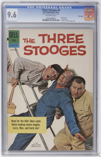 Three Stooges #9, 37, and 41 File Copies CGC Group (Gold Key, 1962-68).... (Total: 3)