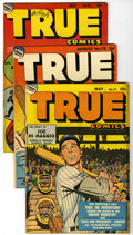 "Golden Age (1938-1955):War, True Comics Group - Davis Crippen (""D"" Copy) pedigree (True,1949-50).... (Total: 10)"