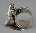 Silver Holloware, American:Napkin Rings, AN AMERICAN SILVER PLATED FIGURAL NAPKIN RING . Reed & Barton,Taunton, Massachusetts, circa 1880. Marks: MFG & PLATED BY...
