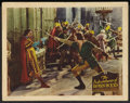 "Movie Posters:Swashbuckler, The Adventures of Robin Hood (Warner Brothers, R-early 1940s). Flat Stock Lobby Card (11"" X 14""). Swashbuckler.. ..."