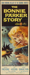 "Movie Posters:Crime, The Bonnie Parker Story (American International, 1958). Insert (14""X 36""). Crime.. ..."