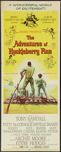 "Movie Posters:Adventure, The Adventures of Huckleberry Finn (MGM, 1960). Insert (14"" X 36"").Adventure.. ..."