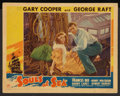 """Movie Posters:Adventure, Souls at Sea (Paramount, 1937). Lobby Card (11"""" X 14""""). Adventure....."""