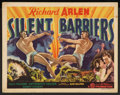 "Movie Posters:Action, Silent Barriers (Gaumont, 1937). Title Lobby Card (11"" X 14"").Action.. ..."