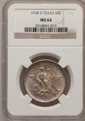 Commemorative Silver: , 1938-D 50C Texas MS64 NGC. NGC Census: (115/622). PCGS Population(256/785). Mintage: 3,775. Numismedia Wsl. Price for prob...