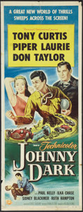 "Movie Posters:Action, Johnny Dark (Universal International, 1954). Insert (14"" X 36"").Action.. ..."