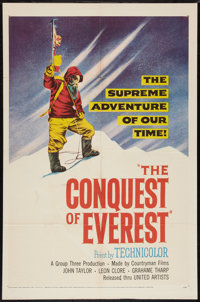 """Conquest of Everest (United Artists, 1954). One Sheet (27"""" X 41""""). Documentary"""