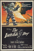 """Movie Posters:Science Fiction, The Invisible Boy (MGM, 1957). One Sheet (27"""" X 41""""). Science Fiction.. ..."""