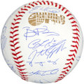 Baseball Collectibles:Balls, 2007 Boston Red Sox Team Signed Baseball (28 Signatures)....