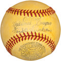 Baseball Collectibles:Balls, 1939 (Frick) National League Yellow Night Baseball....