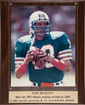 Football Collectibles:Photos, Dan Marino Signed Photograph Display....
