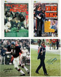 Football Collectibles:Photos, Mike Ditka and Dick Butkus Signed Photographs Lot of 4....