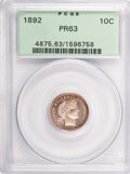 Proof Barber Dimes: , 1892 10C PR63 PCGS. PCGS Population (70/149). NGC Census: (31/173).Mintage: 1,245. Numismedia Wsl. Price for problem free ...