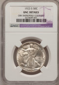 Walking Liberty Half Dollars, 1923-S 50C -- Obverse Improperly Cleaned -- NGC Details. Unc....