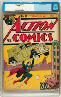 Action Comics #33 (DC, 1941) CGC VG/FN 5.0 Cream to off-white pages