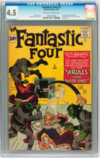Fantastic Four #2 (Marvel, 1962) CGC VG+ 4.5 Off-white to white pages