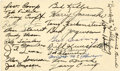 Football Collectibles:Others, 1943 Green Bay Packers Team Signed Government Postcard....