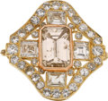 Estate Jewelry:Brooches - Pins, Colored Diamond, Diamond, Gold Pendant-Brooch. ...