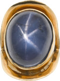 Estate Jewelry:Rings, Star Sapphire, Gold Ring. ...