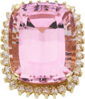 Estate Jewelry:Rings, Kunzite, Diamond, Gold Ring. ...