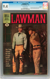 Lawman #7 File Copy (Dell, 1961) CGC NM 9.4 Off-white pages