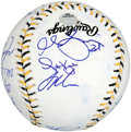 Baseball Collectibles:Balls, 2006 American League All Stars Team Signed Baseball (21Signatures). ...