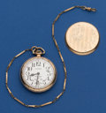 Timepieces:Pocket (post 1900), Illinois 21 Jewel Bunn Special With Chain Pocket Watch. ...