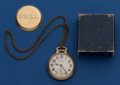 Timepieces:Pocket (post 1900), Hamilton 21 Jewel 992 B Pocket Watch With Box. ...