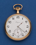Timepieces:Pocket (post 1900), Longines 12 Size Gold Filled Open Face Pocket Watch. ...