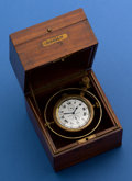 Timepieces:Other , Elgin 21 Jewel Father Time Gimbals, Boxed U.S.S.B. Ships Deck Watch With Indicator. ...