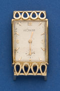 Timepieces:Wristwatch, LeCoultre Rare 18k Yellow Gold Rectangle. ...