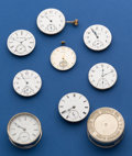 Timepieces:Other , Lot of Eight American Pocket Watch Movements. ... (Total: 8 Items)