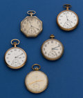 Timepieces:Pocket (post 1900), Five Elgin 12 Size For Part Or Restoration. ... (Total: 5 Items)