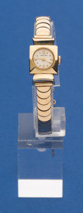 Timepieces:Wristwatch, Longines 14k Gold Wristwatch 14k Gold Band. ...