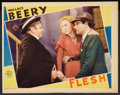 "Movie Posters:Drama, Flesh (MGM, 1932). Lobby Card (11"" X 14""). Drama.. ..."