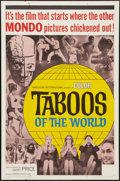 "Movie Posters:Documentary, Taboos of the World (American International, 1963). One Sheet (27"" X 41""). Documentary.. ..."