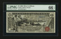 Large Size:Silver Certificates, Fr. 224 $1 1896 Silver Certificate PMG Gem Uncirculated 66 EPQ.....
